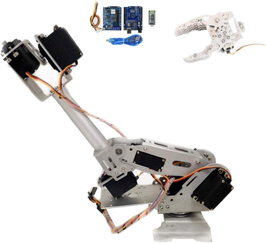 Shiwaki DIY 8DOFアルミニウムロボットアーム-8回転機械式ロボットアームキット、180度