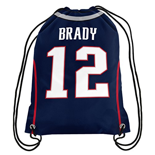 NFL New England Patriots Tom Brady #12 Double Sided Drawstring Backpack