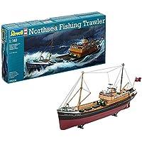 Revell North Sea Fishing Trawler, Kit Modello, Escala 1:142 (5204) (05204), Multicolor, 37,3 cm de Largo