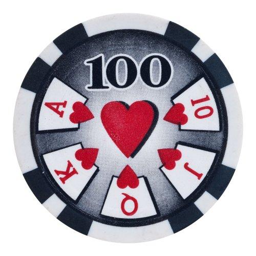 Trademark Poker High Roller 50 Poker Chips (100-Piece), 11.5gm