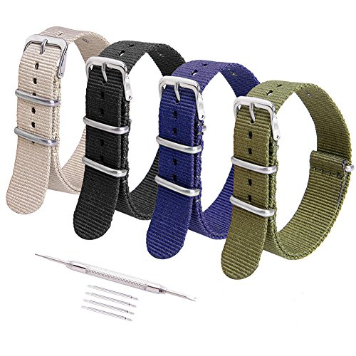 Ritche 20mm Nato Strap Watch Bands Nylon Replacement Daniel Wellington Timex Weekender