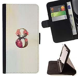 Momo Phone Case / Flip Funda de Cuero Case Cover - 9 Infinity Rose Primavera Beige - Samsung Galaxy S6 Active G890A