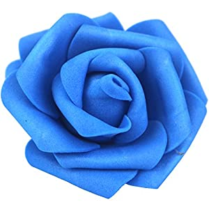 Lightingsky 3 x 1.6 x 3 inches DIY Real Touch 3D Artificial Foam Rose Head Without Stem for Wedding Party Home Decoration 4