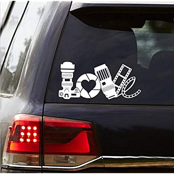 "I Love Photography 8/"" for car labtop window cute Vinyl Decal Sticker CUSTOM"