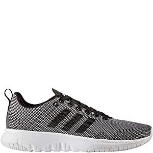 adidas NEO Women's CF Superflex W Running Shoe, White/Black/Black, 10 Medium US