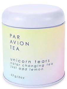Par Avion Tea , Unicorn Tears Tea - Color Changing Green Tea With Rose Hip and Natural Flavors - 2 oz