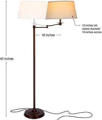 Stehlampe Stand Steh Lese Leuchte Beleuchtung Büro Fluter Wohn Zimmer Soff braun