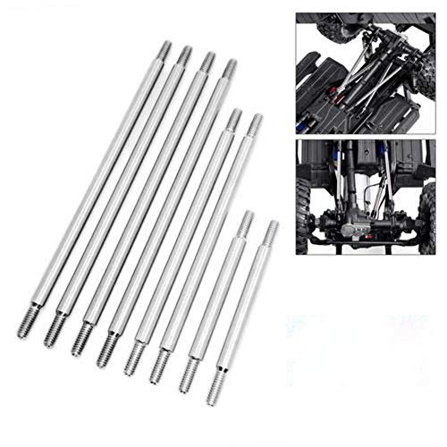 U-smile RC Car Chassis Link Rod Kits,8 Pcs Stainless Steel Link Tie Rods for 1/10 RC Crawler Car TRAXXAS TRX-4 324mm Wheelbase