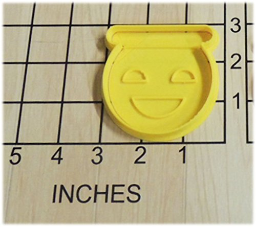 Halo Emoji Shaped Cookie Cutter and Stamp #1112 (Cookie Halo Cutter)