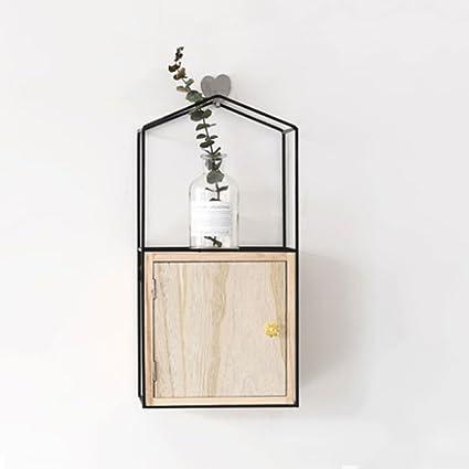 Amazon Com Shelf Nordic Minimalist Rectangular Wall Iron Art Small