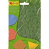 """Makin's USA Makin's Clay Texture Sheets 7""""X5.5"""" 4/Pkg-Set H (Coils, Connectors & Abstracts)"""