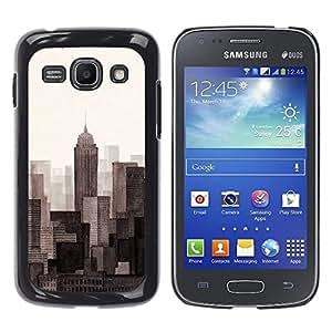 Caucho caso de Shell duro de la cubierta de accesorios de protección BY RAYDREAMMM - Samsung Galaxy Ace 3 GT-S7270 GT-S7275 GT-S7272 - Scrapers Big City View Horizon