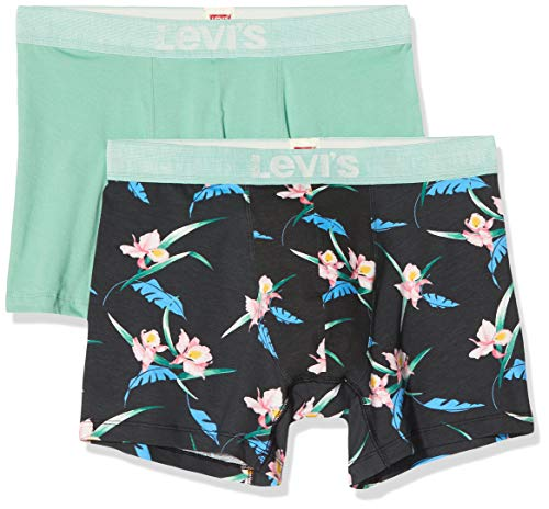 Levi's Herren Levis Men Tropical AOP Boxer Brief 2p Boxershorts (2er Pack)