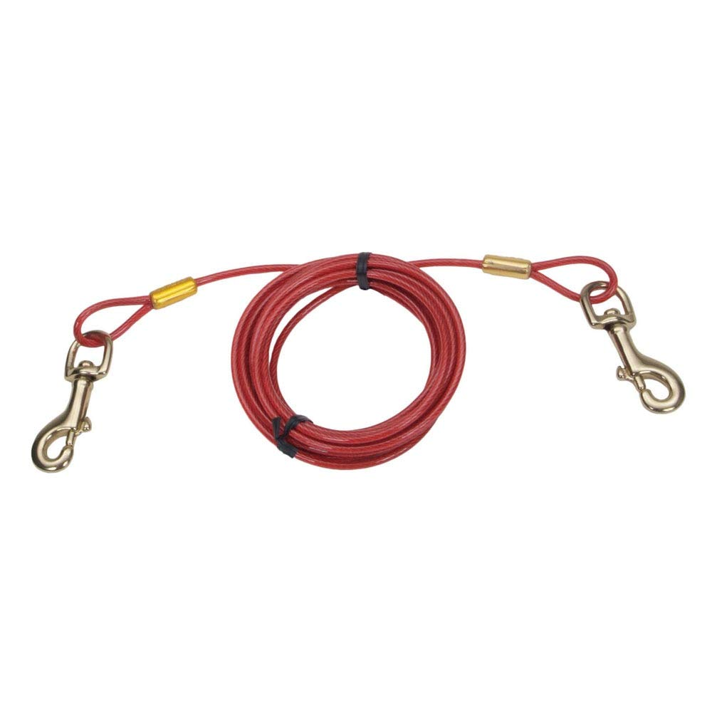 Coastal Pet Products 89061 HVY20 Titan Dog Tie Out Cable Red, 20 Ft by Coastal Pet