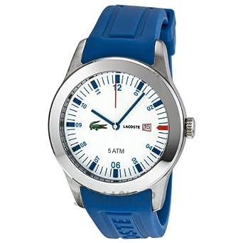 48cfb876020e Amazon.com  Lacoste Advantage Blue Silicone Mens Watch 2010630 ...