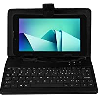 Ikall N9 Tablet with Keyboard (7 inch, 8GB, WiFi + 3G + Voice Calling), Black