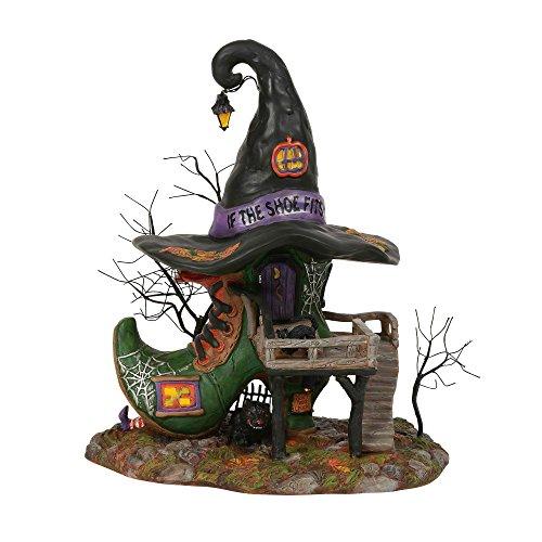 Dept 56 Halloween Clearance (Department56 Snow Village HalloweenEsmeralda's Shoe Shop Lit Building, 10.25