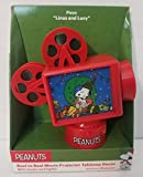 Snoopy and Woodstock Animated Light Up Film Reel Movie Projector Centerpiece Christmas Ornament - Plays ''Linus and Lucy''