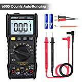 LIUMY LM5005 Digital Multimeter TRMS 6000 Counts Tester Non Contact Voltage Detection Auto-ranging Amp Ohm Volt Multi Meter Temperature, Live Line, with LCD Backlight