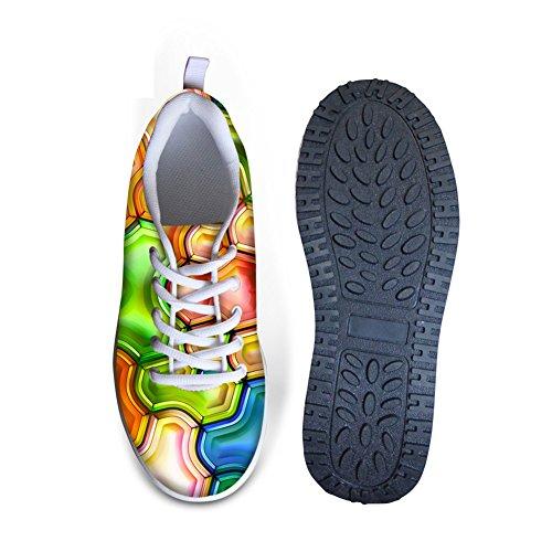 Multi Wedge Chaussures De Marche En Plein Air Chaussures De Swing Occasionnels Des Femmes Respirant Motifs Géométriques Motif 6