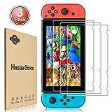 [3 Pack] Nintendo Switch Screen Protector Tempered Glass - Hestia Goods Transparent HD Clear Anti-Scratch Screen...