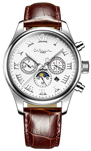 CARNIVAL-automatic-mechanical-watch-multi-function-simulation-watch-for-mens-leather-watchband