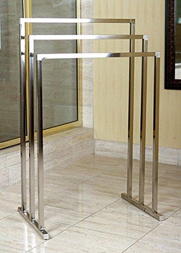 standing towel rack. Towel Rack Stand Brass Edenscape Free Standing (Satin Nickel) - Hanger D