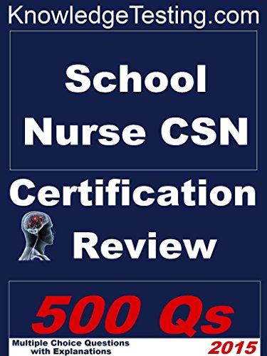 School Nursing - CSN Certification Review (School Nursing ...