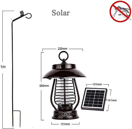 ZHAB - Lámpara antimosquitos eléctrica para jardín, antimosquitos eléctricos y antimosquitos: Amazon.es: Hogar