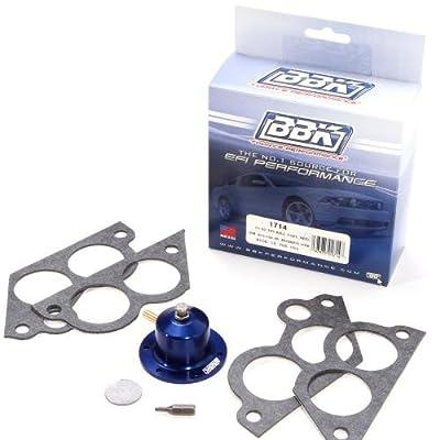 BBK 1714 Fuel Pressure Regulator Kit, CNC Machined Billet Aluminum - Fully Adjustable Pressure for Chevrolet GM TPI 305, 350