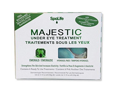 Majestic Spa - Spa Life Majestic Under Eye Treatments - Feel Refreshed - Strengthens Skin & Increases Elasticity - 6 Treatments (See More Options)