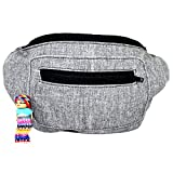 Santa Playa Stylish Classic Canvas Fanny Pack Hidden Pocket Handmade (Hidden Talents)