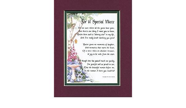 Un presente de regalo 18th 21st 30th 40th cumpleaños poema para una sobrina, # 74: Amazon.es: Hogar