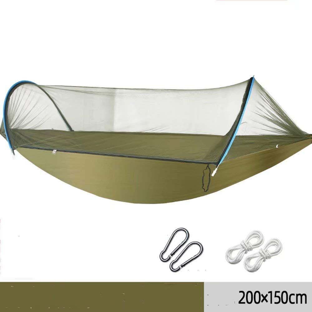 ZLL-hammock Hamaca Mosquito al Aire Libre con mosquitero Columpio para Adultos Que acampa Solo Doble Interior balcón Dormitorio Campo Ultraligero portátil