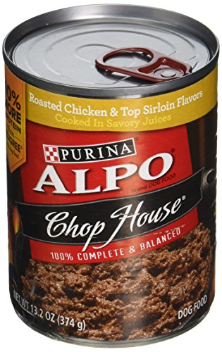 Alpo Chop House Roasted Chicken Flavor Dog Food 13.2 oz