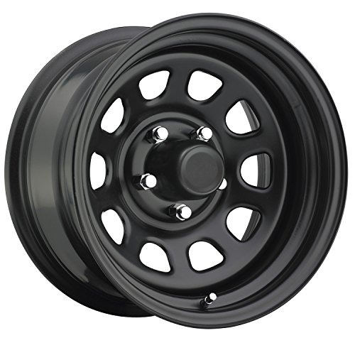 (Trailmaster TM5-5865F TM5 Steel Wheel; Size 15X8 ;Bolt Pattern: 5x4.5 ;Back Space 3.75 in.; Finish Flat Black;)