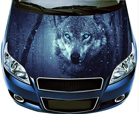 Blue Red Dragons Pretty Girl Car Hood Wrap Color Vinyl Sticker Decal Fit Any Car