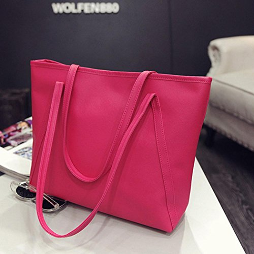 Red Shoulder Women's Tote Handbag Crossbody Sling Leather Retro Rose Bag PU Large qWEwUP6wpx