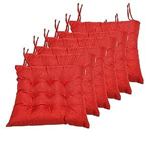 BCASE, Lot De 6 Coussins D'Assise Et De Chaise, 42X42Cm, Housse en Polyester, Rembourrage en Fibre, 9 Coutures…