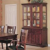 Bowery Hill Buffet and Hutch China Cabinet in Cherry