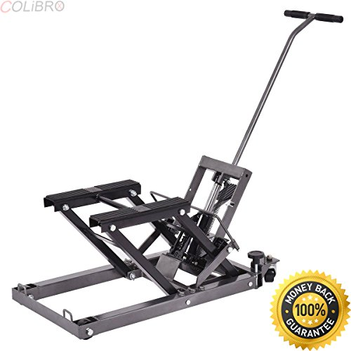 COLIBROX--Motorcycle ATV Jack Lift Stand Quad Dirt Street Bike Hoist 1500 Lbs New. motorcycle jack stand harbor freight. harbor freight motorcycle lift review.best atv lift stand amazon.atv lift jack.