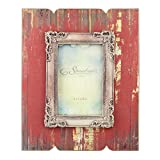 Stonebriar Distressed Red Wood Frame with Vintage Decorative Trim Review