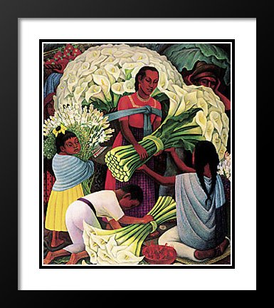 Diego Rivera Framed and Double Matted Art Print 25x29