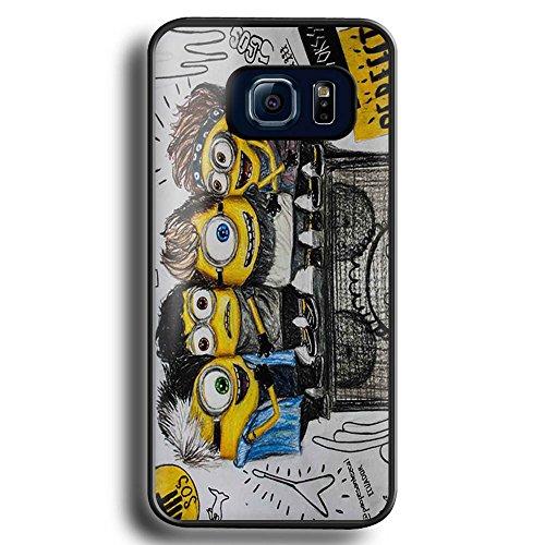 minion despicable me calum ashton luke michael inspired For Samsung Galaxy S6 Edge black ()