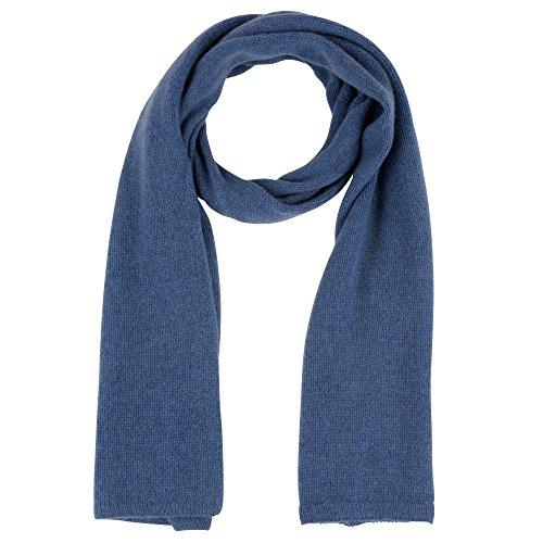 Womens 100% Cashmere Scarf 4 Plys Volume 172 cm x 29cm Colors - Blue Navy by LES POULETTES