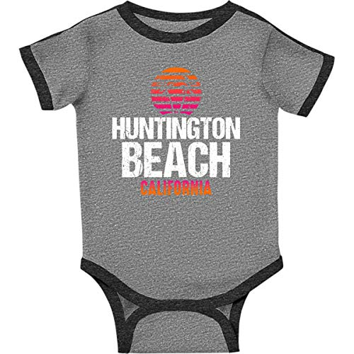 inktastic - Sunset Infant Creeper 24 Months Ringer Heather and Smoke 30516