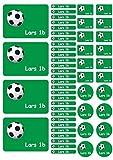 Namensaufkleber Heftaufkleber Etiketten Sticker Stickerbogen Fussball