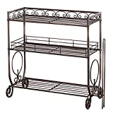 VANRA 3 Tier Spice Rack Kitchen Spice Stand Holder Jars Storage Organizer Shelf Rack with Tissue Dispenser Rack / Bathroom Paper Towel Holder & Towel Bar (Black)