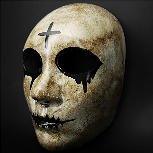 Grey Cross Horror Killer Purge mask Men,The Purge Anarchy Movie,Halloween Mask Masquerade Costume Party ...