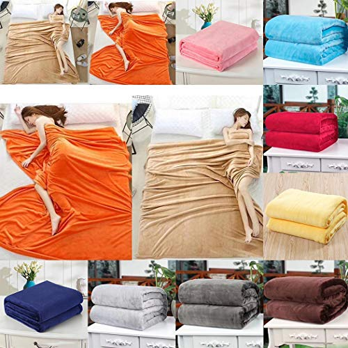 Fantastick Coral Velvet Blankets Simple Soft and Comforable Office Air Conditioning Blanket